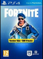 Fortnite Bomber Skin + 500 V-bucks (PS4) (Europe)