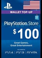 PlayStation Gift Card - $100  (USD)   Statele Unite ale Americii - SUA