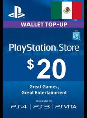 Tarjeta Regalo PlayStation - $20 (USD) | México