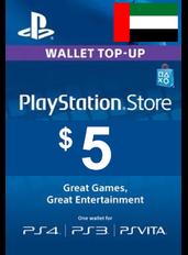 PlayStation Gift Card - $5 (USD)   Emiratele Arabe Unite - UAE