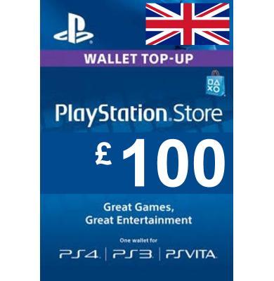 £100 (GBP) - PlayStation Gift Card | UK - United Kingdom