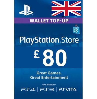 £80 (GBP) - PlayStation Gift Card | UK - United Kingdom