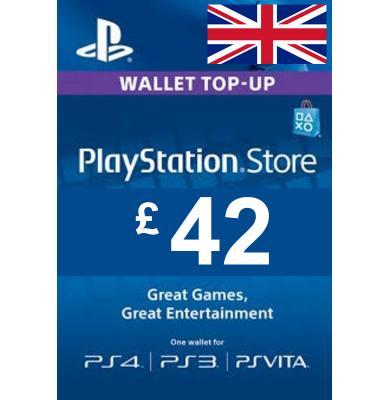 £42 (GBP) - PlayStation Gift Card | UK - United Kingdom