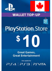 $10 (CAD) - PlayStation Gift Card | Canada