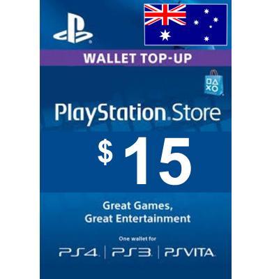 $15 (AUD) - PlayStation Gift Card   Australia