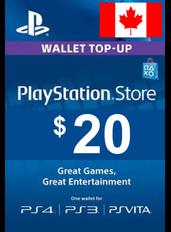 $20 (CAD) - PlayStation Gift Card | Canada