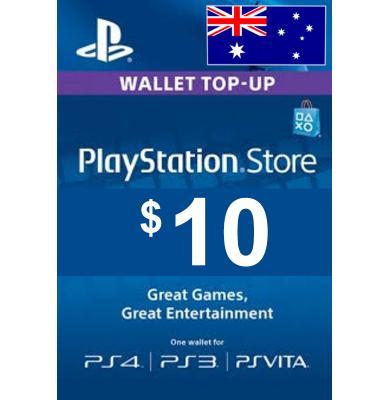 $10 (AUD) - PlayStation Gift Card   Australia