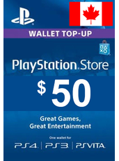 $50 (CAD) - PlayStation Gift Card | Canada
