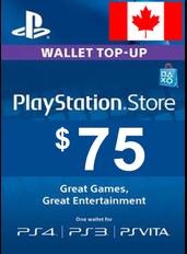 $75 (CAD) - PlayStation Gift Card | Canada