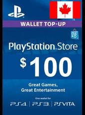 $100 (CAD) - PlayStation Gift Card | Canada