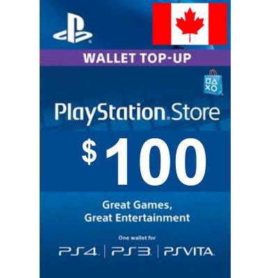 $100 (CAD) - PlayStation Gift Card   Canada