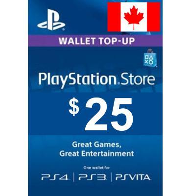 $25 (CAD) - PlayStation Gift Card   Canada