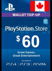 $60 (CAD) - PlayStation Gift Card | Canada
