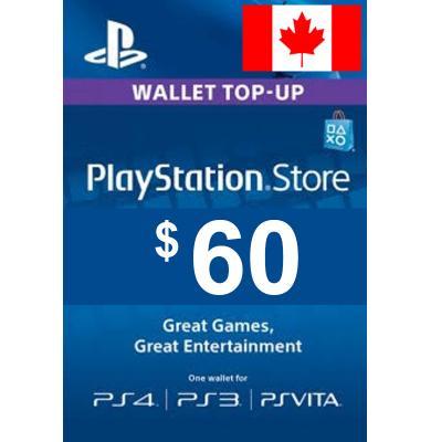 $60 (CAD) - PlayStation Gift Card   Canada
