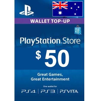 $50 (AUD) - PlayStation Gift Card   Australia