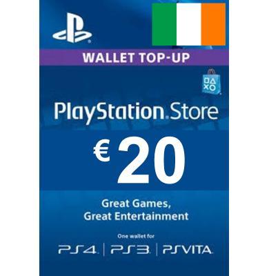 20€ (EUR) - PlayStation Gift Card | Ireland
