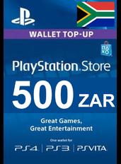 PlayStation Gift Card - 500 (ZAR)   Africa de Sud