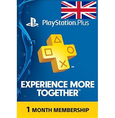 PS Plus 1 Month (UK - United Kingdom)