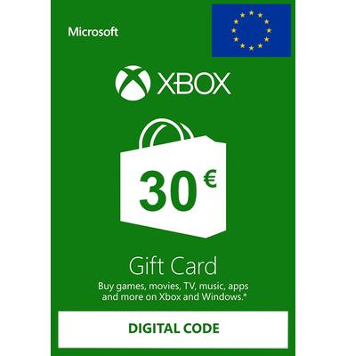 Xbox Tarjetas Regalo 30€ (EUR)   Europa