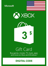 Xbox Guthabenkarte $3 (USD)   USA
