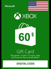 Xbox Guthabenkarte $60 (USD)   USA