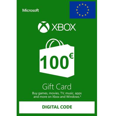 Xbox Tarjetas Regalo 100€ (EUR)   Europa