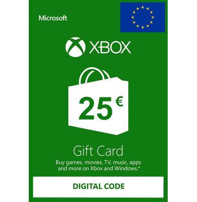 Xbox Tarjetas Regalo 25€ (EUR)   Europa