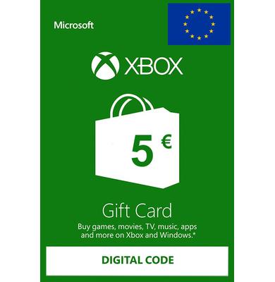 Xbox Tarjetas Regalo 5€ (EUR) | Europa