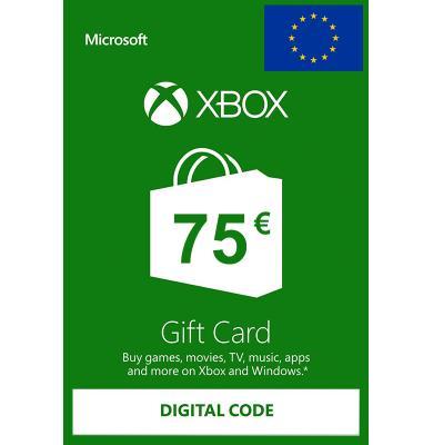 Xbox Tarjetas Regalo 75€ (EUR)   Europa