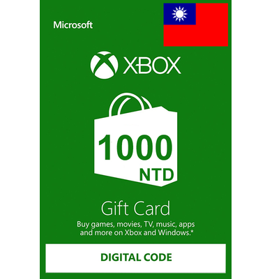 XBOX Live 1000 (NTD Gift Card) (Taiwan)