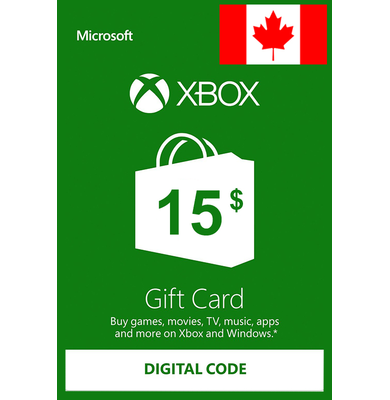 Xbox Cartao Presente $15 (CAD) | Canadá