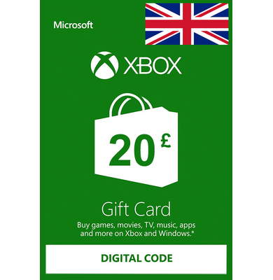 Xbox Gift Card £20 (GBP)   UK - United Kingdom