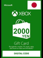 Xbox Guthabenkarte 2000¥ (YEN) | Japan