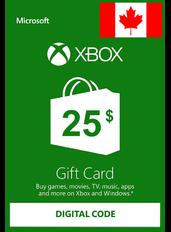 Xbox Guthabenkarte $25 (CAD) | Kanada