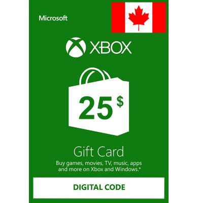 Xbox Gift Card $25 (CAD) | Canada
