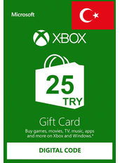 Xbox Guthabenkarte 25 TL (TRY) | Türkei