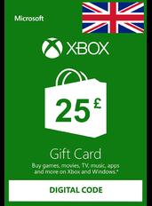 Xbox Guthabenkarte £25 (GBP) | UK - Großbritannien