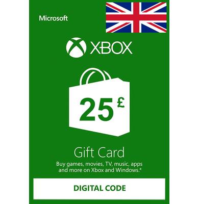 Xbox Gift Card £25 (GBP)   UK - United Kingdom