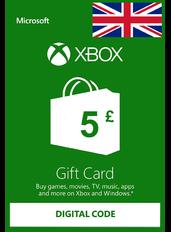 Xbox Guthabenkarte £5 (GBP) | UK - Großbritannien