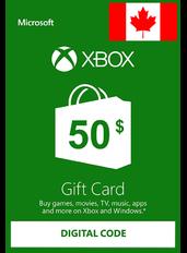Xbox Guthabenkarte $50 (CAD) | Kanada