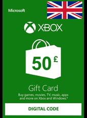 Xbox Guthabenkarte £50 (GBP) | UK - Großbritannien