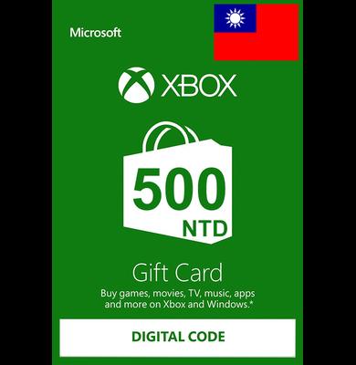 XBOX Live 500 (NTD Gift Card) (Taiwan)