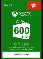 Xbox Cartao Presente HK$600 (HKD) | Hong Kong