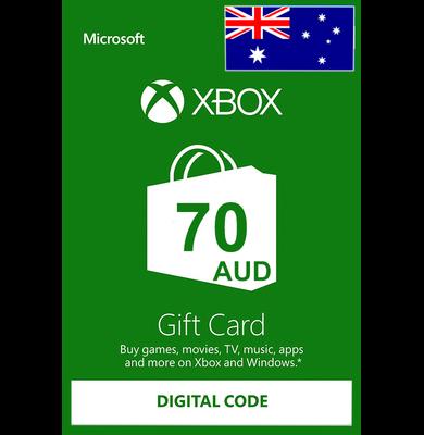 Xbox Cartao Presente $70 (AUD) | Austrália