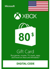 Xbox Guthabenkarte $80 (USD)   USA