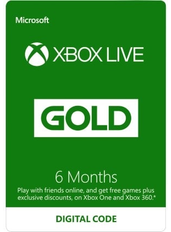 Xbox Live Gold 6 Meses (GLOBAL)