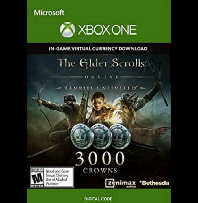The Elder Scrolls Online: Tamriel Unlimited 3000 Crowns (Xbox One)