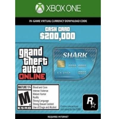 Grand Theft Auto Online: Tiger Shark Cash Card - GTA V (5) (Xbox One)