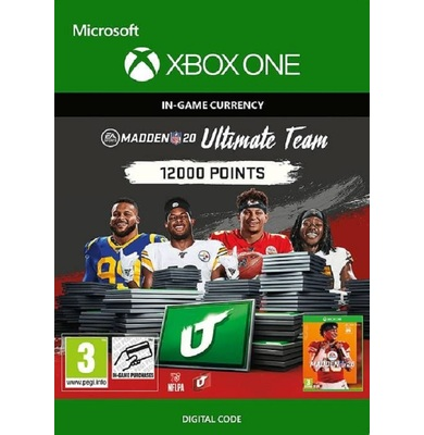 Madden NFL 20 - 12000 MUT Points (Xbox One)