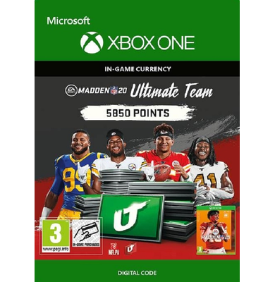 Madden NFL 20 - 5850 MUT Points (Xbox One)